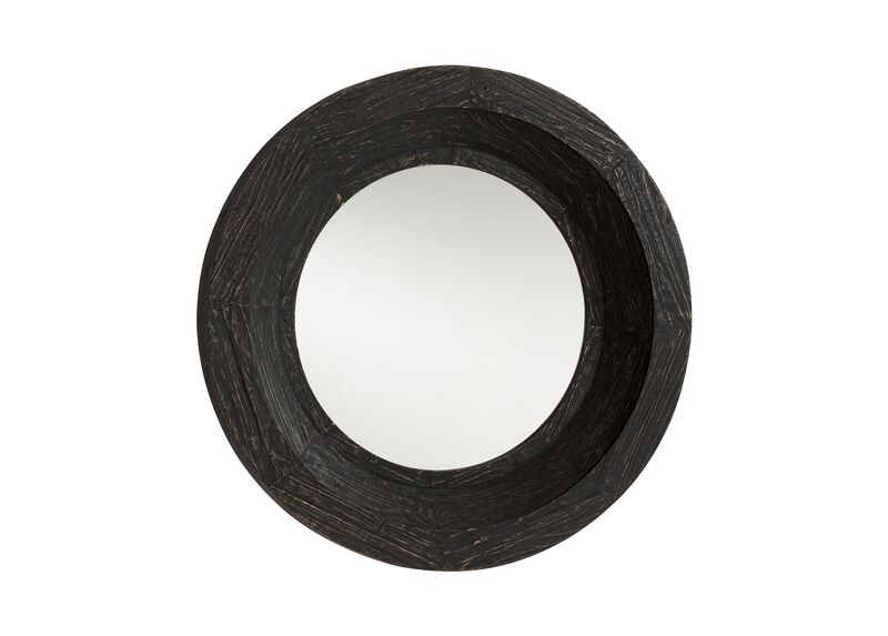 Antique Black Reclaimed Mirror