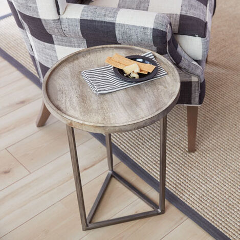Bolton Round Wood Accent Table Product Tile Hover Image Bolton