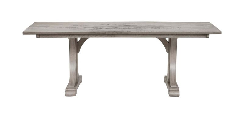 Corin Rough Sawn Trestle Dining Table ,  , large_gray