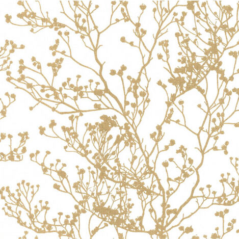 Budding Branch Silhouette Wallpaper Product Tile Image YK1056MST