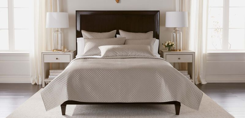 Salena Quilted Coverlet and Shams, Taupe