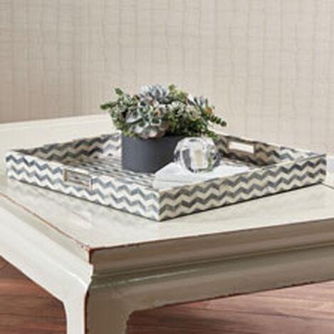 "Chevron 24"" Square Bone Tray Product Tile Hover Image 431713"