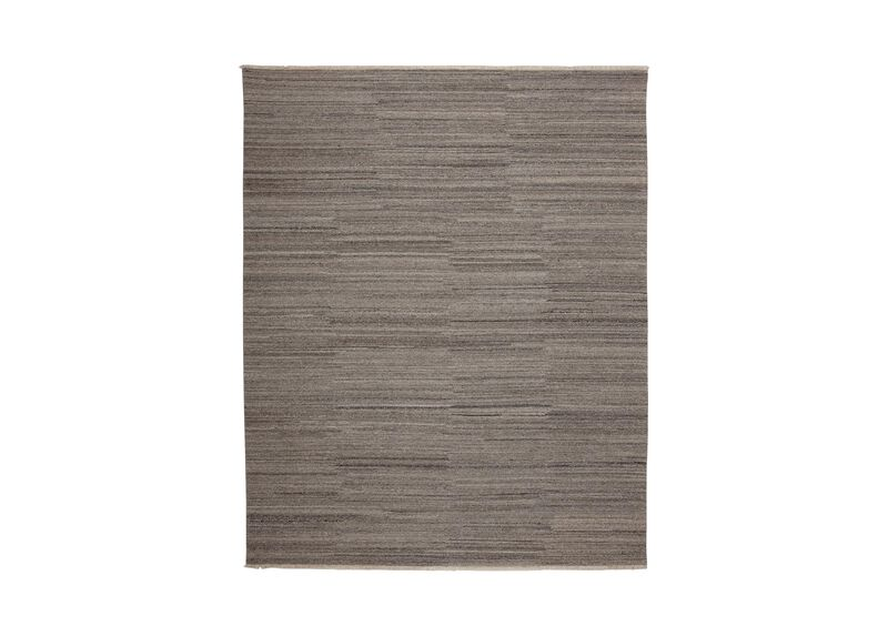Wool Soumak Rug, Light Gray ,  , large_gray