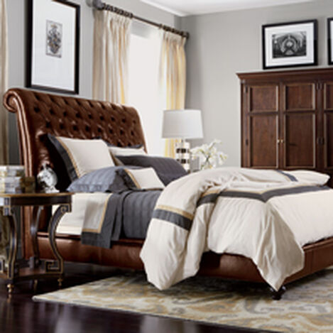 Haven Leather Bed with Low Footboard ,  , hover_image