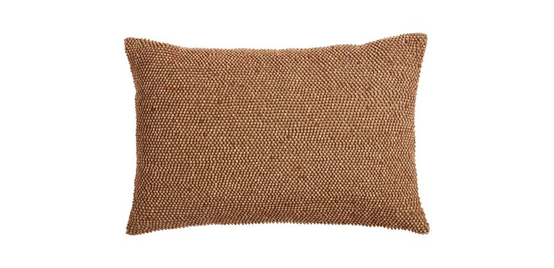 Wood Beaded Pillow