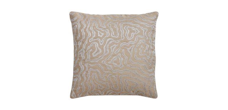 Woven Labyrinth Metallic Pillow