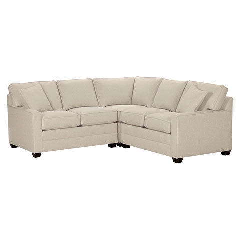 Bennett Track Arm Three Piece Sectional, Quick Ship , , Large