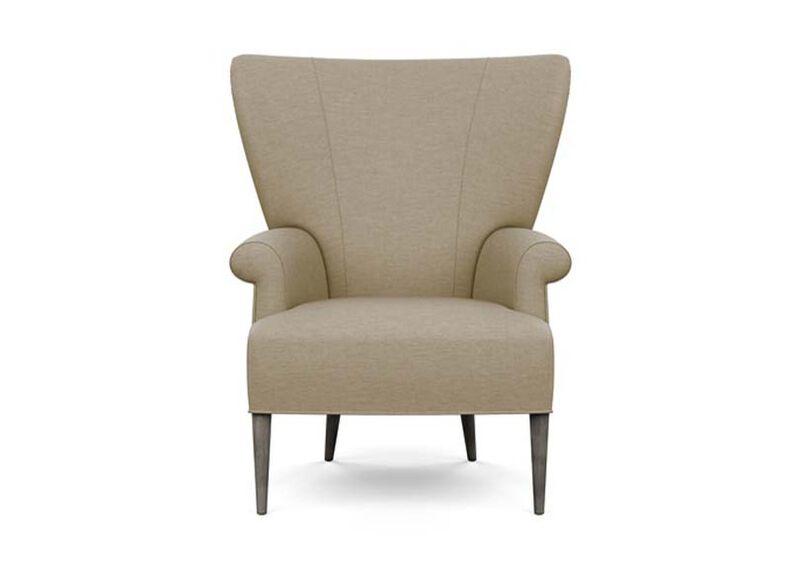 Bravo Chair , Zest Linen (D1031), strie texture , large_gray