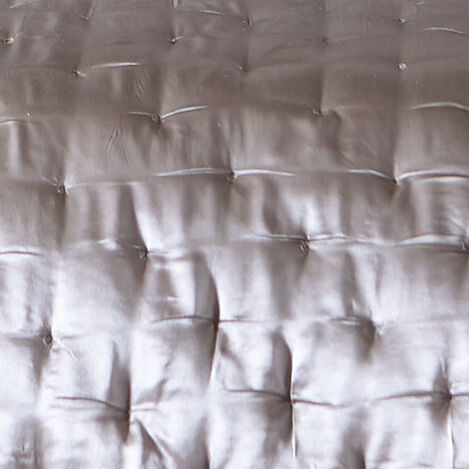 Washed Taupe Silk Coverlet and Shams Product Tile Hover Image WashedTaupeSilk