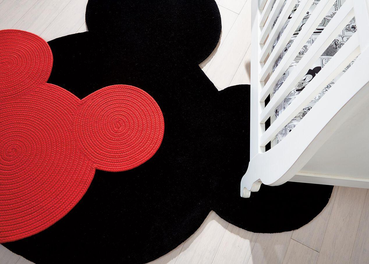 Braided Mickey Mouse Rug Alt