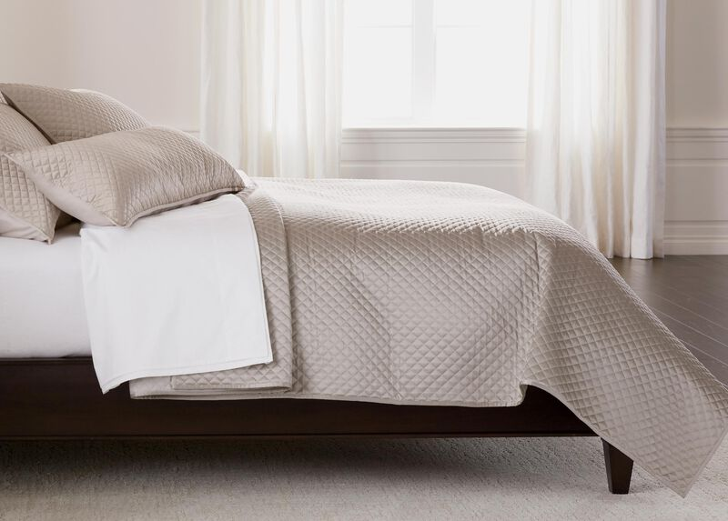 Salena Quilted Coverlet, King Taupe