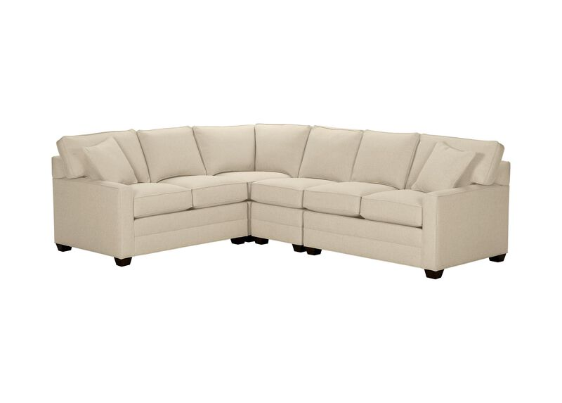 Bennett Track-Arm Four Piece Sectional, Quick Ship , Palmer Pearl (Q3039), chenille , large_gray