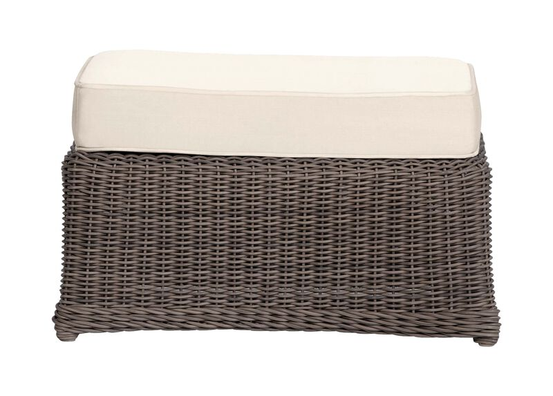 Willow Bay Ottoman , Kean White (P8430) , large_gray