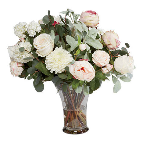 Peony, Hydrangea, Roses Mix in Flared Vase Product Tile Image 442252
