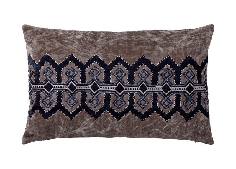 Embellished Velvet Pillow ,  , large_gray