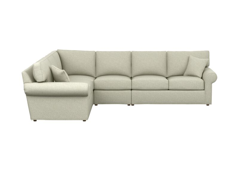 Retreat Roll-Arm Four-Piece Sectional