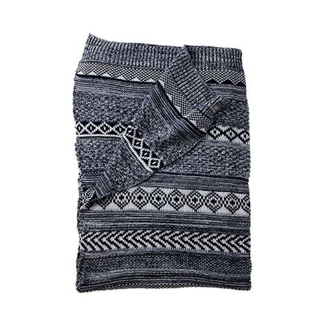 Sweater Stitch Knit Stroller Blanket, Midnight ,  , large