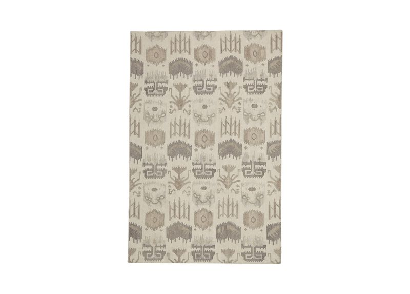 Tribal Mosaic Rug, Ivory/Multi