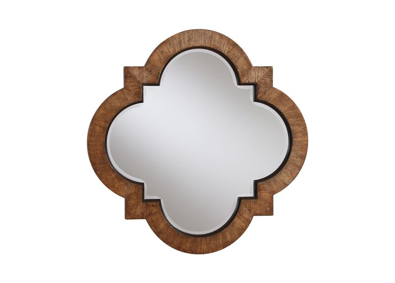 Light Quatrefoil Mirror