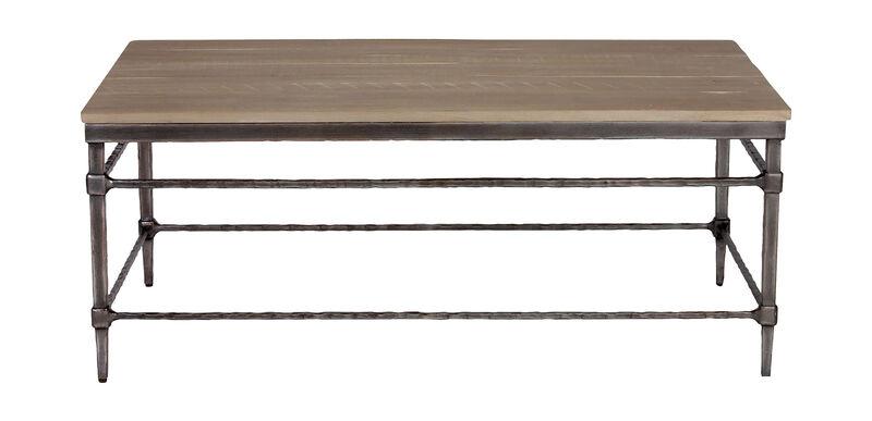 Vida Wood-Top Coffee Table