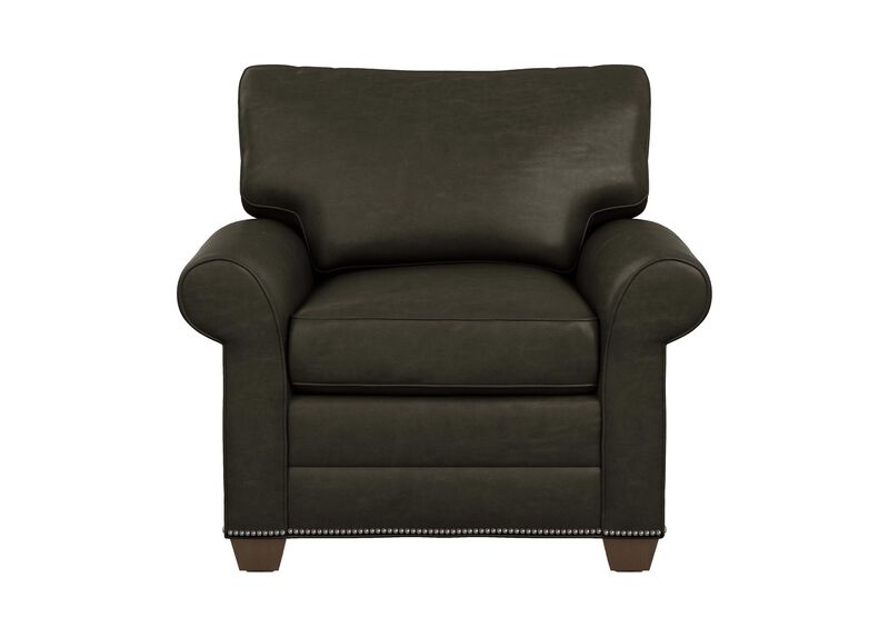 Bennett Roll-Arm Leather Chair