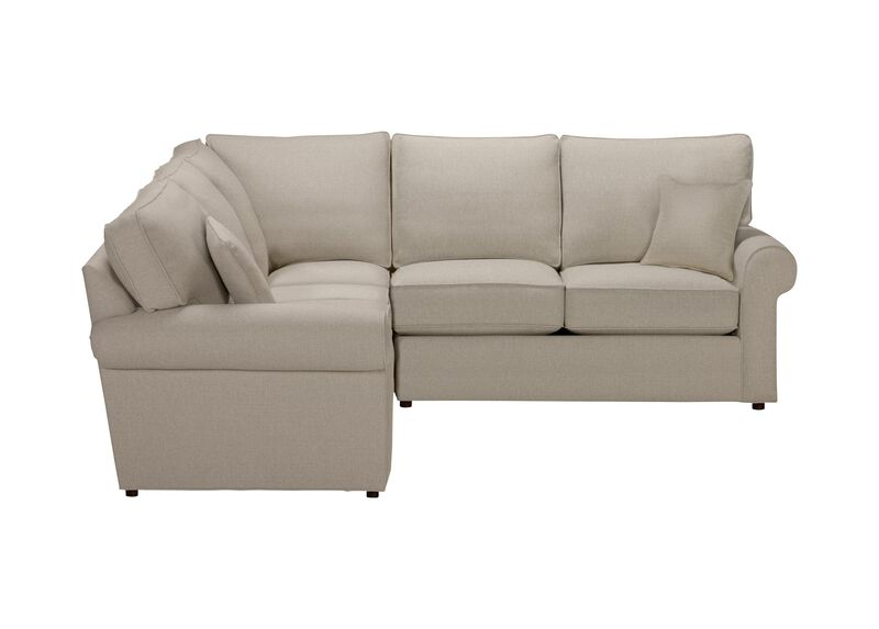 Retreat Roll-Arm Three Piece Sectional, Quick Ship , Palmer Pearl (Q3039), chenille , large_gray