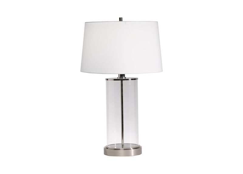 Glass Cylinder Table Lamp