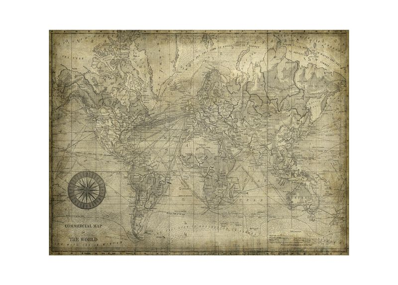 World Map I Vintage