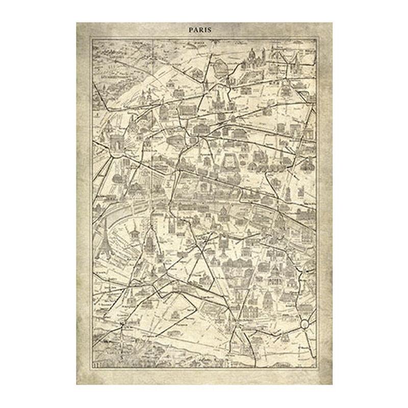 Paris Map I Vintage