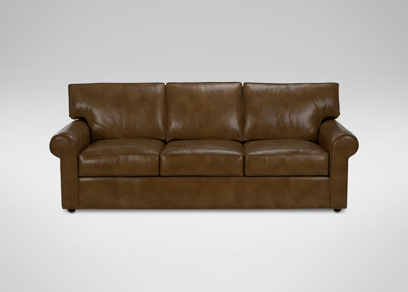 Retreat Roll Arm Leather Sofa Sofas Amp Loveseats Ethan