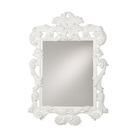 White Ornate Mirror ,  , large