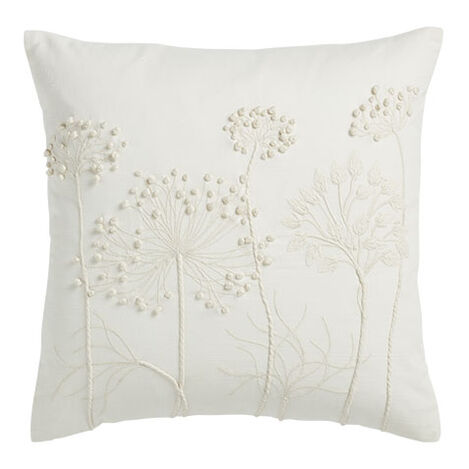 French Knotted Pillow, Ivory Product Tile Image 065687   IVO