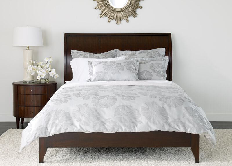 Susana Gray Floral Duvet Cover and Shams at Ethan Allen in Ormond Beach, FL | Tuggl