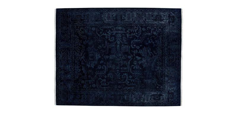 Heriz Deconstructed Rug, Navy