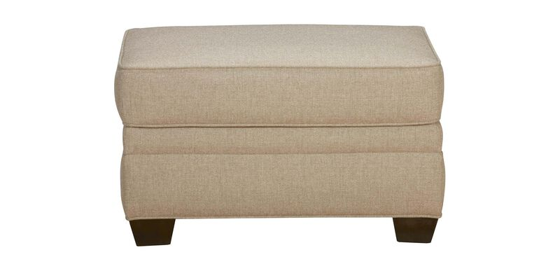 Bennett Ottoman, Quick Ship , Palmer Oyster (Q3033), chenille , large_gray