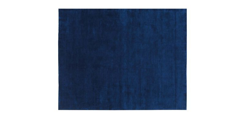 Loomed Wool Rug, Navy