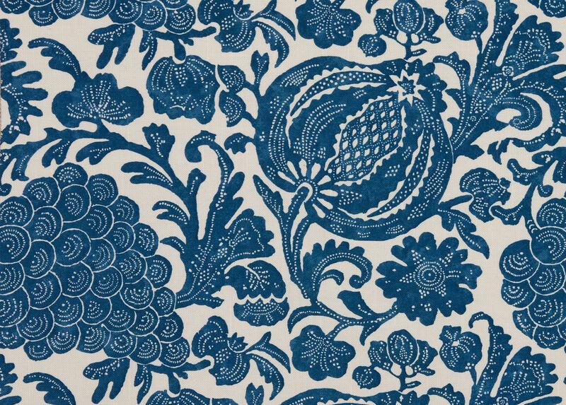 Mystic Floral Indigo Fabric by the Yard