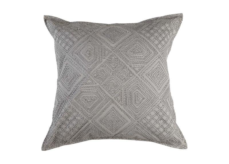 Modern Gray Diamond Cord Pillow