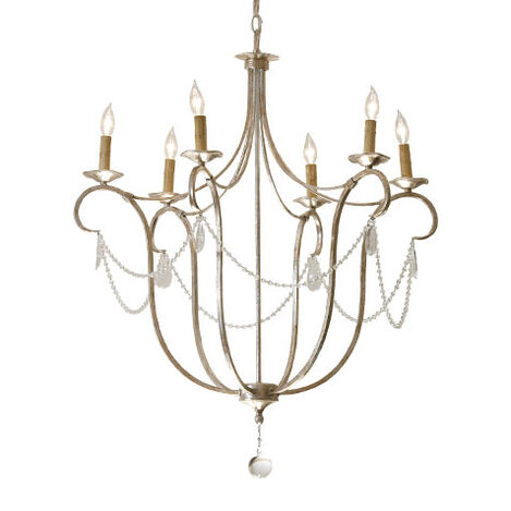Cali Aged Silver Chandelier Product Tile Image 093830