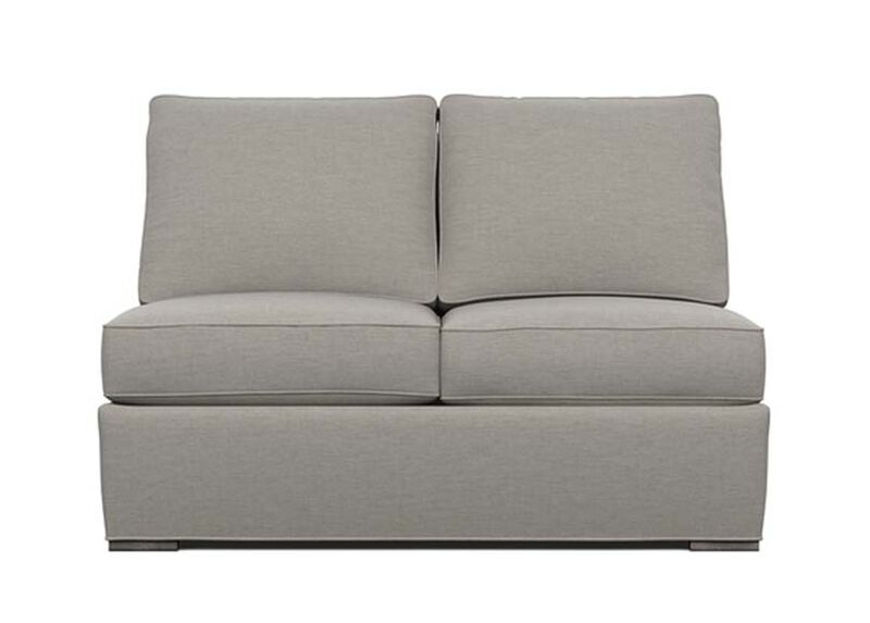 Meeting Place Armless Loveseat , Zest Steel (D1053), strie texture , large_gray