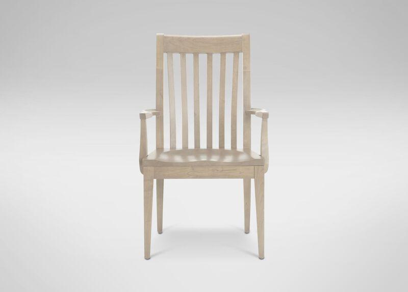 Teagan Wood-Seat Armchair ,  , large_gray