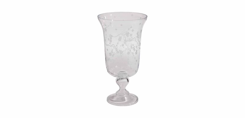 Cherry Blossom Pedestal Vase