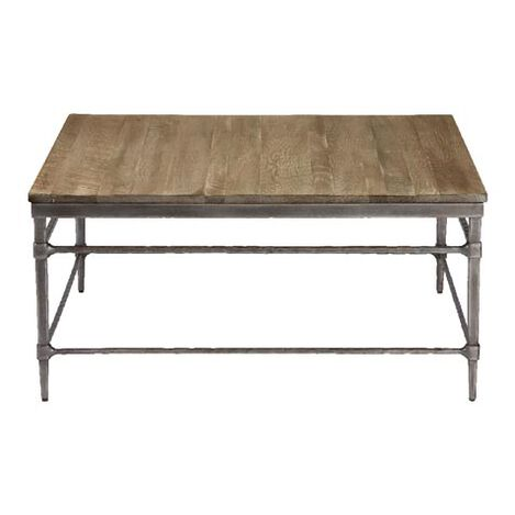 Vida Square Wood Top Coffee Table     large. Shop Coffee Tables   Living Room Tables   Ethan Allen