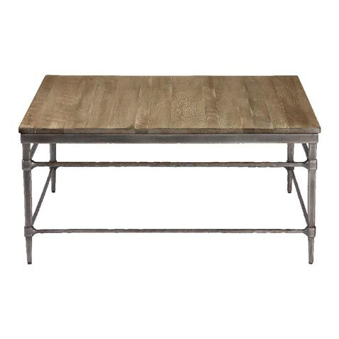Vida Square Wood Top Coffee Table , , Large