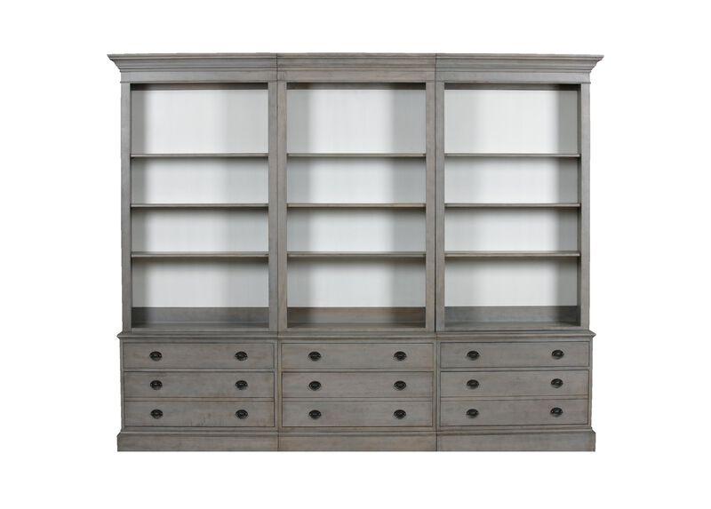 Villa Triple File Bookcase