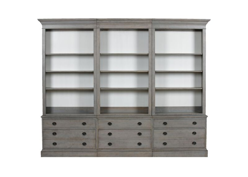 Villa Triple File Bookcase