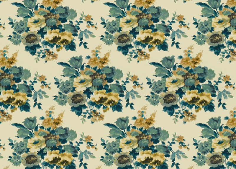 Fallon Teal Fabric by the Yard