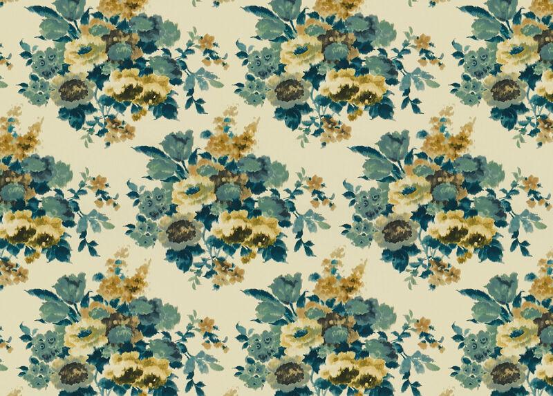 Fallon Teal Fabric