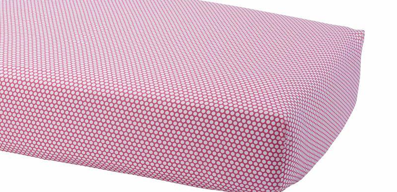 Dotty Crib Sheet, Minnie Pink