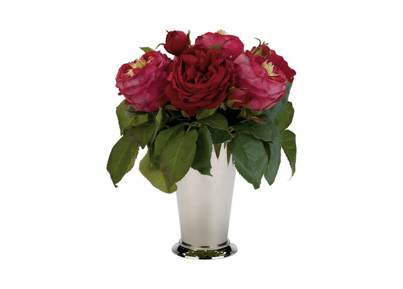 Red Roses in Julep Cup